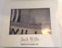 BNIB Jack Wills 'Gelliswick' Winter Accessories set - Gloves and Headband - GREY