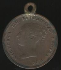 More details for 1844 victoria half farthing coin modified to pendant   pennies2pounds