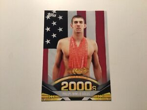 Michael Phelps 2011 American Pie #192 USA Olympics Wins 8 GOLDS Swimming Card