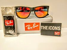Ray-Ban Justin Classic RB4165 622/6Q 54mmMatte Black Red Mirror Lens.