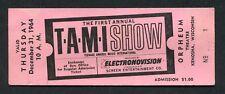 1964 Tami Show Concert Ticket Rolling Stones Beach Boys Chuck Berry James Brown