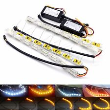 UK 16LED Universal Sequential Switchback Daytime Running Strip Light Turn Signal