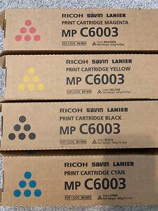 GENUINE Ricoh Savin Lanier Toner CYMK MPC6003 MP C5503 MP C4503 MP C6004 NEW SET