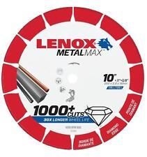 "NEW LENOX 1972926 10"" x 5/8"" METALMAX GRINDER METAL CUTTING CUT-OFF WHEEL SALE"