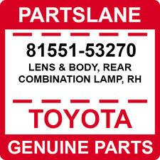 81551-53270 Toyota OEM Genuine LENS & BODY, REAR COMBINATION LAMP, RH