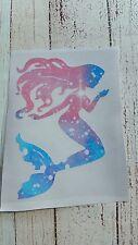 Mermaid Vinyl Car Decal Tumbler Cup Mug decal 3.5 H Cosmic Lilly, Printed vinyl