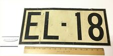 Vintage Railroad Locomotive Bus Train Engine Number Plate/Sign 17 x 8 Two Sided