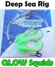 Deep Sea / Deep Drop Rig. Blueeye, Gemfish, Harpuka. 3 x Hooks + Glow Squids