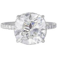 5.01 Cushion Brilliant cut GIA certified H color VS1 clarity diamond Platinum