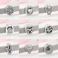 Sterling Silver Charm Silver Reflexions Charm Smooth Love Heart Clip Lock