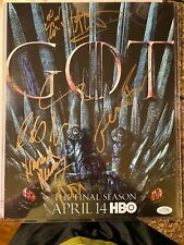 2019 HBO GOT Game Of Thrones Cast Signed Autographed Poster SDCC Rare