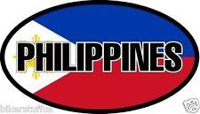 PHILIPPINES FLAG BUMPER STICKER TOOL BOX STICKER LAPTOP STICKER