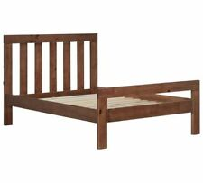 Chile Small Double Bed Frame - Dark Stain