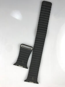 with Manufacturing defect 1 Apple Watch Leather Loop 42mm 44mm Medium Storm Gray