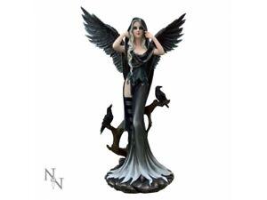 SORREL Extra Large 62.5cm Fairy & Raven Dark Angel Figurine Nemesis Now FREE P+P