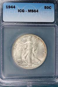1944-P ICG MS64 Walking Liberty Half Dollar!! #E3621