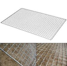 BBQ Net Barbecue Grills Wire Mesh Stainless Outdoor Picnic Cooking 70cm x 40cm