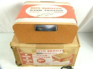 Vintage Mid Century Mod MCM Aluminum Copper Oven Toaster Roto-Broilette NOS!