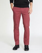 Dunnes Stretch Chino Trousers Slim Fit Cotton Casual Jeans UK W36 L34 New Berry