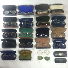 Lot Of 21 Antique Vintage Gold Filled Eyeglasses w/case GF 10k 12k Scrap / Wear