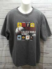 2009 Mens NCAA College World Series T Shirt Champion  Omaha NE Gray Sz XXL