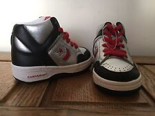 BABY Kids Infants Boys Converse All Star Silver HI TOP Trainers Boots SIZE UK 4