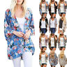 Cardigan Womens Tops Chiffon Kimono Duster Loose Kimono Beach Jacket Boho Floral