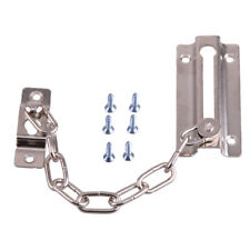 Silver Iron Door Security Safety Chain Guard Fastener Latch Lock Bolt Home Hotel