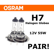 GERMAN OSRAM H7 HALOGEN HEADLIGHT GLOBES - 12V 55W PX26d (PAIR!)