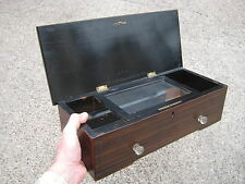 Nice OLD WOODEN BOX - Cylinder Musical Box CASE. Polyphone box. Genuine !!!