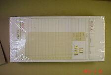 Restaurant Beverage Checks in case of 2500 Ennis #4918 snap bottom new, Numbered