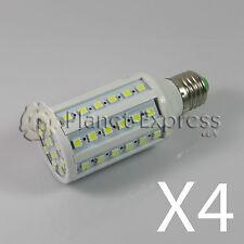 4 x Lampada 60 LED SMD 5050 E27 Bianco Neutro 220V 10W 1080 lumen equiv. 100W