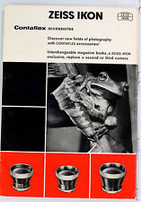 Contaflex Accessories Sales Brochure - 12 pages, printed in April 1964