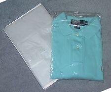 "100 - 9 x 12 Plastic Bags Poly T Shirt 1 MIL Clear - 2"" Flap - Shipping Bag"