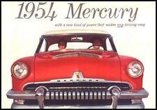 1954 Mercury Color Brochure Monterey Sun Valley Custom