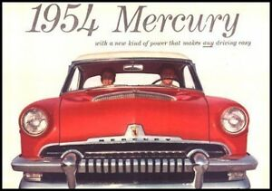 1954 Mercury Color Brochure Monterey Sun Valley Custom