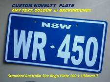 WR450F WR250F GRAPHICS, CUSTOM MOTORCYCLE REGO PLATE