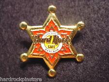 Bangkok ~ 6th Anniversary Staff Nite 1997 ~ Hard Rock Cafe Red & Gold Star Pin !
