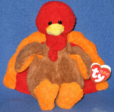GOBBLE THE TURKEY - TY PLUFFIES - MINT with MINT TAGS