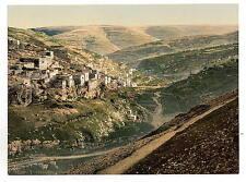 Village Of Siloam Jerusalem A4 Photo Print