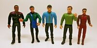 "LOT 5 - 1994 Playmates Star Trek Deep Space Nine 5"" Action Figures - Kirk, Spock"