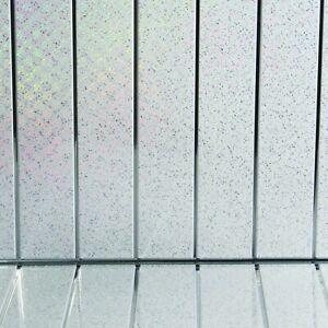 10 Platinum White Sparkle Chrome Bathroom Wall Panels Kitchen Ceiling Cladding