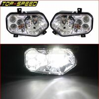 Pair LED Conversion Headlights Lamp Beam For Polaris Ranger 800 900 / XP 900 12