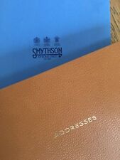 SMYTHSON of Bond Street leather Address Book, ring binder mechanism, vintage