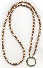 ELEGANT Golden Eyeglass~Glasses Holder Chain LA LARGE LOOP NECKLACE~RING