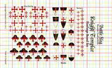 Battle Flag - Templar Knight Waterslide Decals for Firefoge Plastic Box Set 28mm