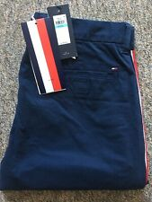 Tommy Hilfiger stretch chinos with stripe side tape, W31 L32, new with tags