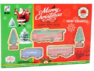 238-1 CHRISTMAS TRAIN HOLIDAY FESTIVE SET TOYS TRACK LIGHT & SOUND XMAS GIFT UK