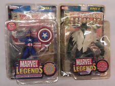 New Series I II Marvel Legends Figure Lot Captain America Hulk Bonus Comic Books