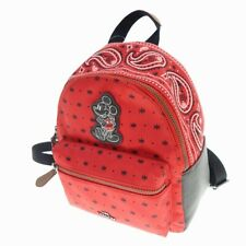 Secondhand Coach F59831 Disney Mickey Patch Bandana Switching Mini Backpack Red